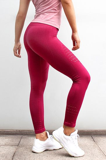 top quality women cherry red fitness leggings